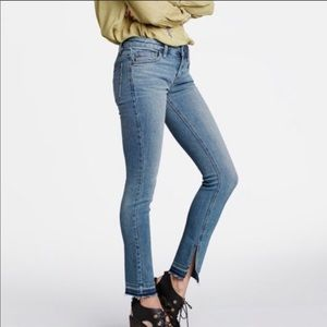 🇺🇸Free People Split Raw Hem Skinny Jeans Size 28